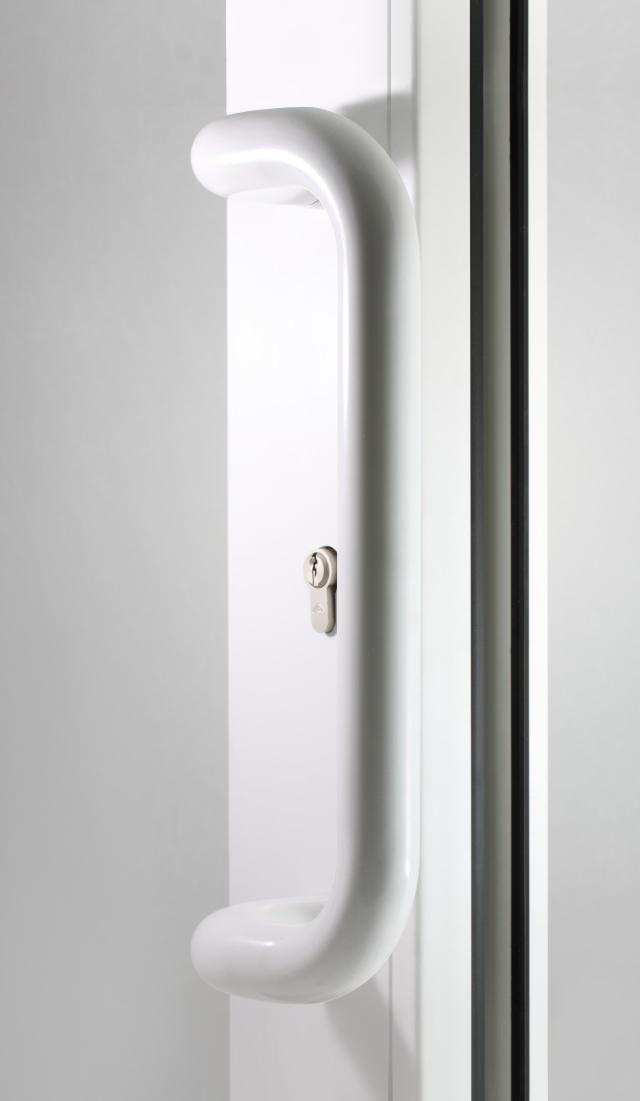 Pochwyt drzwiowy biały
