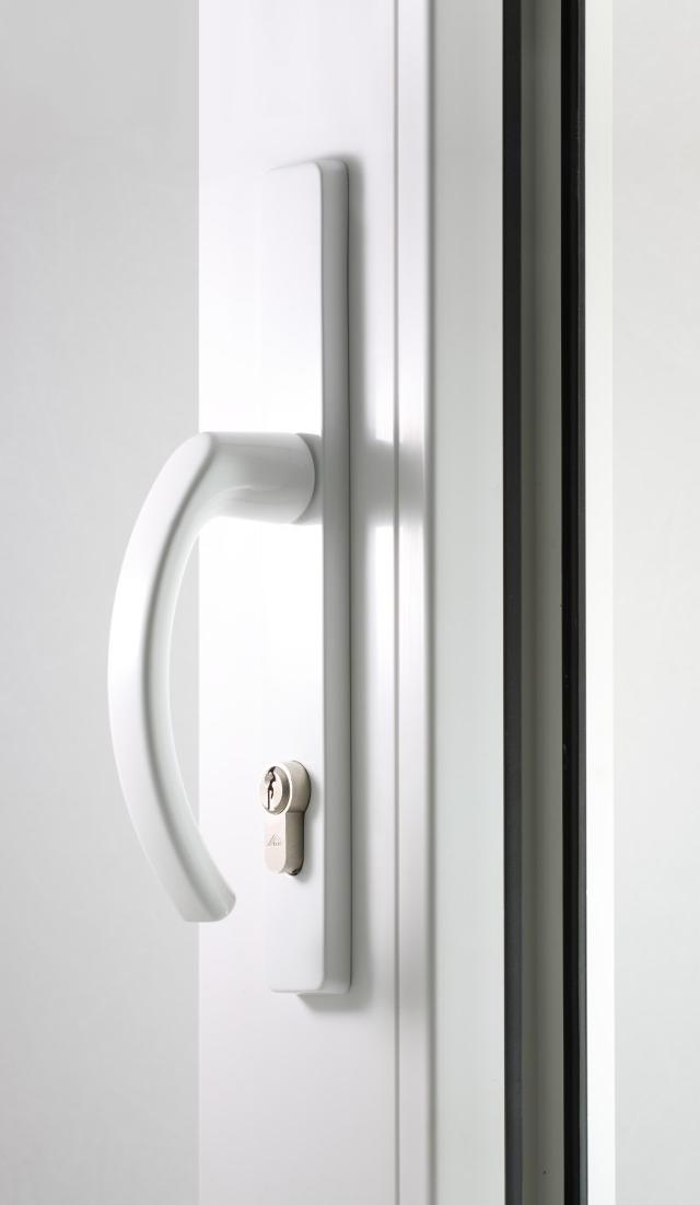 Klamka drzwiowa biała