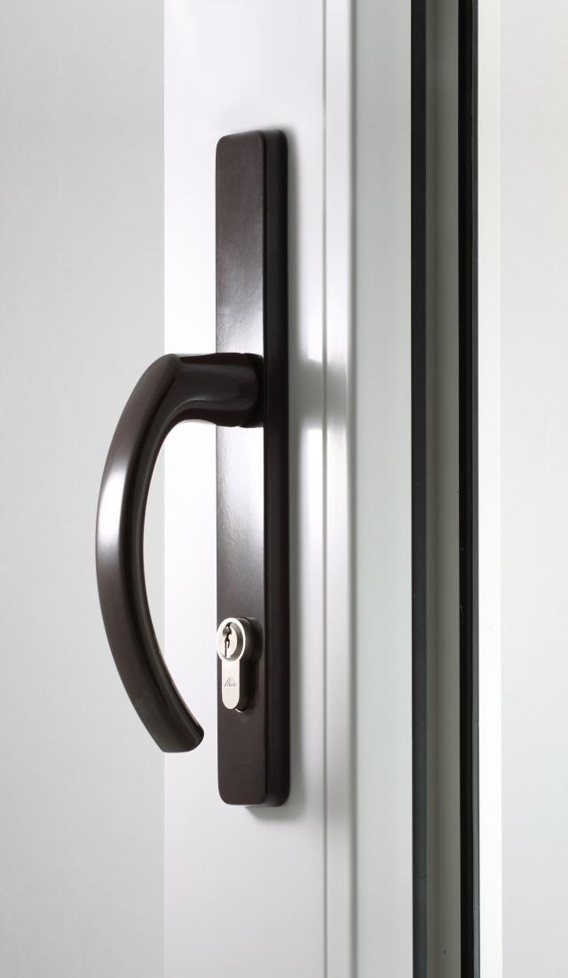 Klamka drzwiowa brąz
