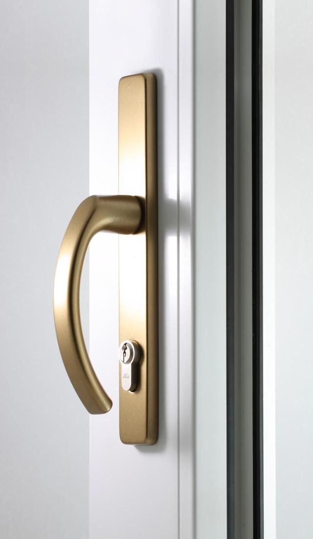 Klamka drzwiowa stare złoto