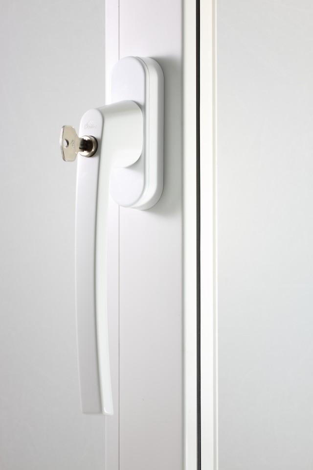 Klamka Patio Automatic biała z kluczem