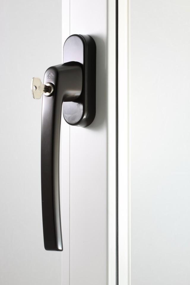 Klamka Patio Automatic brąz z kluczem